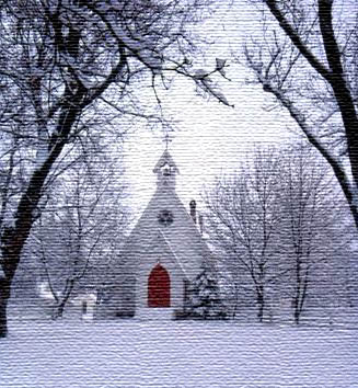 Winter Church in Union County, Oregon